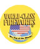 Yellow World Class Fireworks Logo